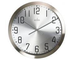 Acctim 27477 Alvik Reloj de pared 50 cm, acero cepillado