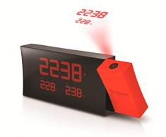 Oregon Scientific RMR-221-P - Reloj proyector, despertador, con temperatura, color rojo