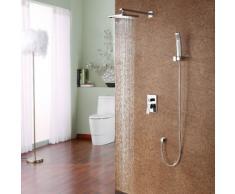 Ducha personalizada grifo de la ducha Estilo Contemporáneo grifo con alcachofa de la ducha 8 pulgadas + aerosol Mano