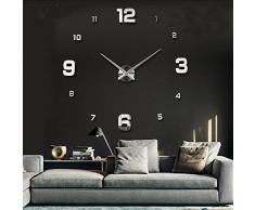 Aliciashouse DIY 3D pared reloj casa grande decoración espejo pegatina arte