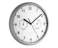 TFA 98.1072 - Reloj de pared electrónico con termómetro e higrómetro, 265 mm