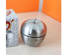 Malloom® nuevo mecánico acero inoxidable temporizador de cocina reloj despertador cuenta atrás 60 minutos