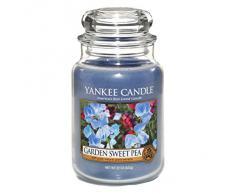 Yankee Candle Classic Housewarmer Grande, Garden Sweet Pea, Vela Perfumada, Ambiente Fragancia en Vaso / Jar, 1152860