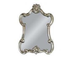 Espejo De Pared Blanco-plata Antiguo Barroca Retro 50x76 Shabby Prunk Vintage Muebles Antiguos Y Decoración Arte Y Antigüedades