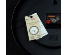 WCUI Reloj de cuarzo barroco azul Reloj de pared de arte de tabla campana silenciosa Tabla vinculada creativa Seleccione ( Color : Negro , Tamaño : M )