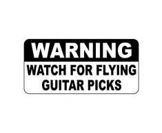 Alerta reloj para Flying Púas de guitarra estilo Vintage Metal Sign – 8 x 12 en