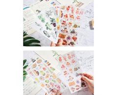 Cdet. 3X Pegatinas Lindo Diario de Viaje DIY Manual Sticker Memo Scrapbooking Pintado a Mano Notebook Album Sticker Regalo decoración(Sello Vintage)