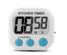 MXTBY 1x Gran Pantalla LCD Digital De Cocina Cook Temporizador Cuenta Regresiva Hasta Más Despertador Loud Magnética