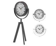 15 cm Vintage reloj de mesa con patas para elegante interiores