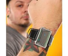 Reloj Led con Pantalla LCD Efecto 3D de 96 Leds