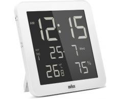 Braun BNC014WH-RC - Reloj despertador digital de pared con control por radio global, color blanco
