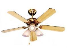Orbegozo CT 23105 - Ventilador de techo, 105 cm, color madera y oro viejo