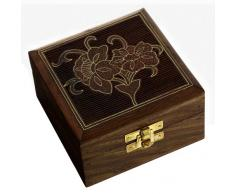 Artículos de regalo para las mujeres pirámide caja de joyería de madera