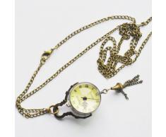 Gleader Reloj de Bosillo Estilo Antiguo Bola de Cristal