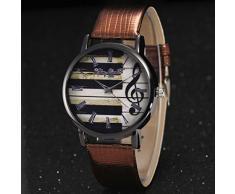 Relojes de Pulsera para Mujeres - Rcool - Reloj de Pulsera de Cuarzo de Lujo de las Piano de Impresión de las Mujeres Mejor Regalo (Café)