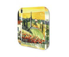 Reloj De Pared Gira Mundial Marke Pintura idilio paisaje Plexiglas Imprimido 25x25 cm