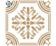 Stencil Deco Adamascado 066 Baldosa. Medidas aproximadas: Medida exterior del stencil: 25 x 25 cm Medida del diseño: 19,6 x 19,6 cm
