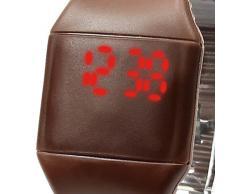 SODIAL(R) Reloj de pulsera de deportes de silicona LED digital pantalla tactil unisex Nuevo Cafe