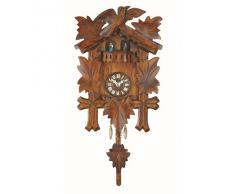 Kuckulino Reloj en miniatura de la selva negra cuarzo con llamada del cucú, bailarines que dan vuelta, incluye batería