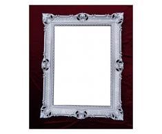 Espejo De Pared Blanco-plata Antiguo Barroca Retro 50x76 Shabby Prunk Vintage Espejos