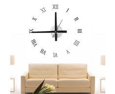 Mecanismo de reloj de pared de acrílico Vantage reloj del engranaje 3D Dial montado en la pared del reloj retro grande de bricolaje decoración casera Reloj ( Color : Plata )