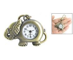 Gleader Reloj Llavero Colgante de Elefante Color Bronce Gancho de Langosta