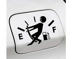 Zinniaya Pegatinas Divertidos para el Auto Alto Consumo de Gas calcomanía Calibrador de Combustible Pegatinas vacías Pegatinas para Autos Accesorios para el Estilo del automóvil