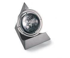 Globo de cristal ejecutivo giratorio para escritorio reloj con marco de fotos