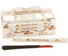 Stamford - Varillas de incienso con aroma a almizcle egipcio, lote de 25 paquetes