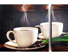 RELOJ DE PARED DISENO GRANO DE CAFÉ 3PZS + 2 IMAGEN - CUARZO - Tinas Collection