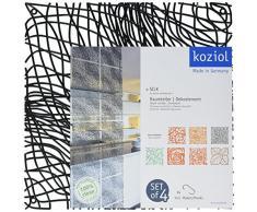 Koziol biombos/deko Element Silk, plástico, 27.1 x 27.1 cm, plástico, negro completo, 0.3 x 27.1 x 27.1 cm