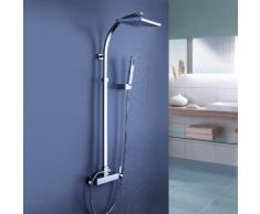 LightInTheBox® Grifo de ducha Alcachofa incluida Ducha lluvia Sistema ducha bañera contemporánea grifo de la ducha con alcachofa de la ducha 8 pulgadas + ducha de mano