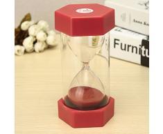 Bluelover 1 minuto de reloj de arena reloj de arena cocina deporte reloj de arena temporizador reloj de arena Home Decor