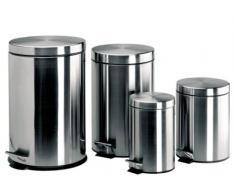 Lacor 63305 - Papelera inox con pedal y cubo 5 ltos
