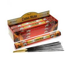 Tulasi - Varillas de incienso con aroma a almizcle chino, lote de 25 paquetes