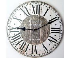 RELOJ DE PARED DESIGN ANTIQITE DE PARIS SHABBY 30CM NOSTALGIA - Tinas Collection