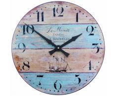 Roger Lascelles - Reloj de pared grande, diseño efecto madera