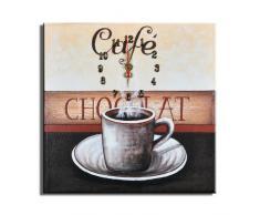 Reloj de pared Café Capuchino - Lounge relojo 30x30cm D 01