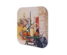 Reloj De Pared Gira Mundial Marke Pintura fruta jugo Atrium Plexiglas Imprimido 25x25 cm