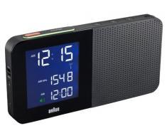 Braun BNC010BK-RC - Radiodespertador con FM/AM y pantalla LCD con led