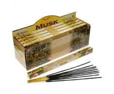 Tulasi - Varillas de incienso con aroma a almizcle, lote de 25 paquetes
