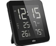 Braun BNC014BK-RC - Reloj despertador digital de pared con control por radio global, color blanco
