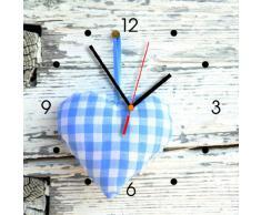 Reloj de pared de cocina - corazón azul
