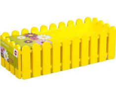 Emsa 508694 Casa Brilliant - Jardinera rectangular (polipropileno, 75 x 20 x 16 cm), color amarillo