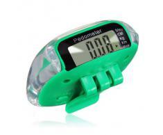TOOGOO (R) Multifuncion Podometro Contador de Calorias Distancia de Paso LCD Digital - Verde