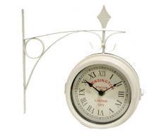 Reloj estación dos caras blanco 14 CM DIAL
