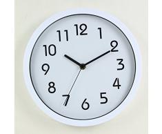 Binwo modernos colorido elegante con estilo silencioso para no marcando Inicio Cocina / sala de estar del reloj de pared 10 pulgadas (Blanco)