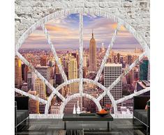 Fotomural 150x105 cm ! 3 tres colores a elegir - Papel tejido-no tejido. Fotomurales - Papel pintado Ciudad New York ventana d-A-0043-a-c