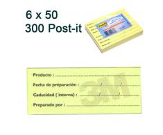 6x50 post-it de trazabilidad alimentaria