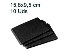 10 Estropajos Scotch Brite Negro 158x95mm